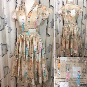 Bernie Dexter Kelly Dress Full Skirt Sewing Print
